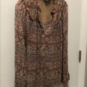 Inc blouse .. 100 silk
